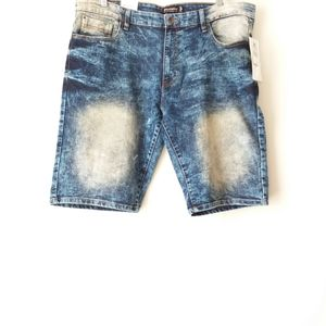 Southpole | Blue Dark Vintage Wash Denim Shorts 40